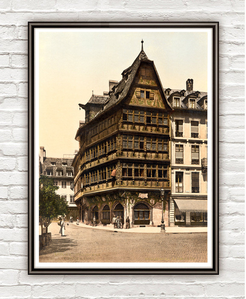 Vintage Photo of Strasbourg, Alsace 1895 - product image