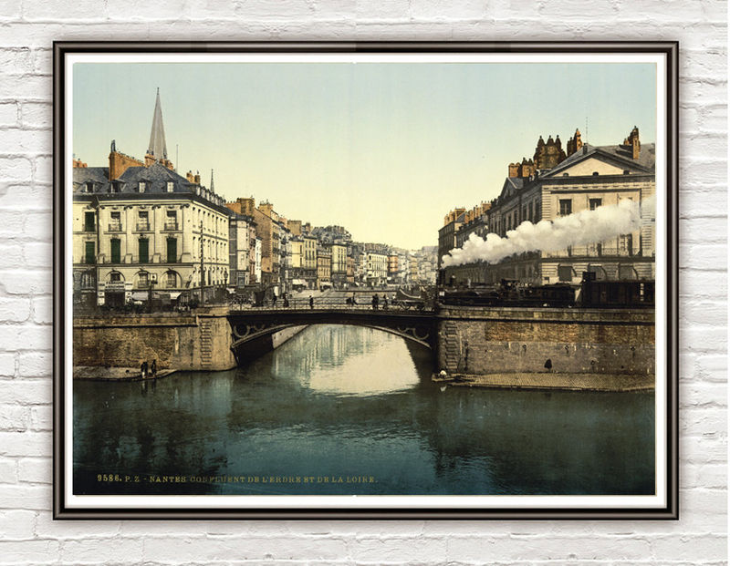 Vintage Photo of Nantes France 1897 - product images