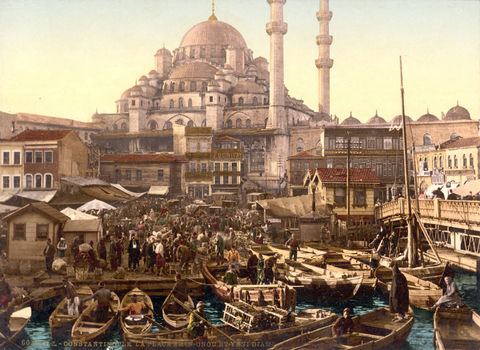Vintage,Photo,of,Constantinople,Istanbul,Yeni,Cami,1895,Art,Reproduction,Open_Edition,vintage_poster,travel_poster,turkey_decor,constantinople,turkey,turkey_retro,old_constantinople,turkish_art,poster,yeni_cami,bazaar,old_instanbul,instanbul_vintage