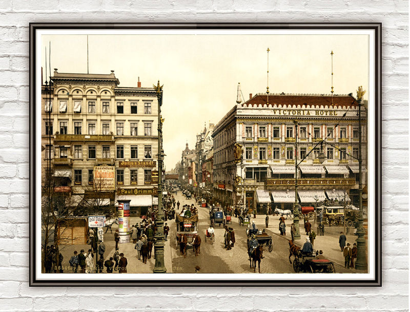 Vintage Photo of Berlin, Victoria Hotel, Germany 1900 - product images