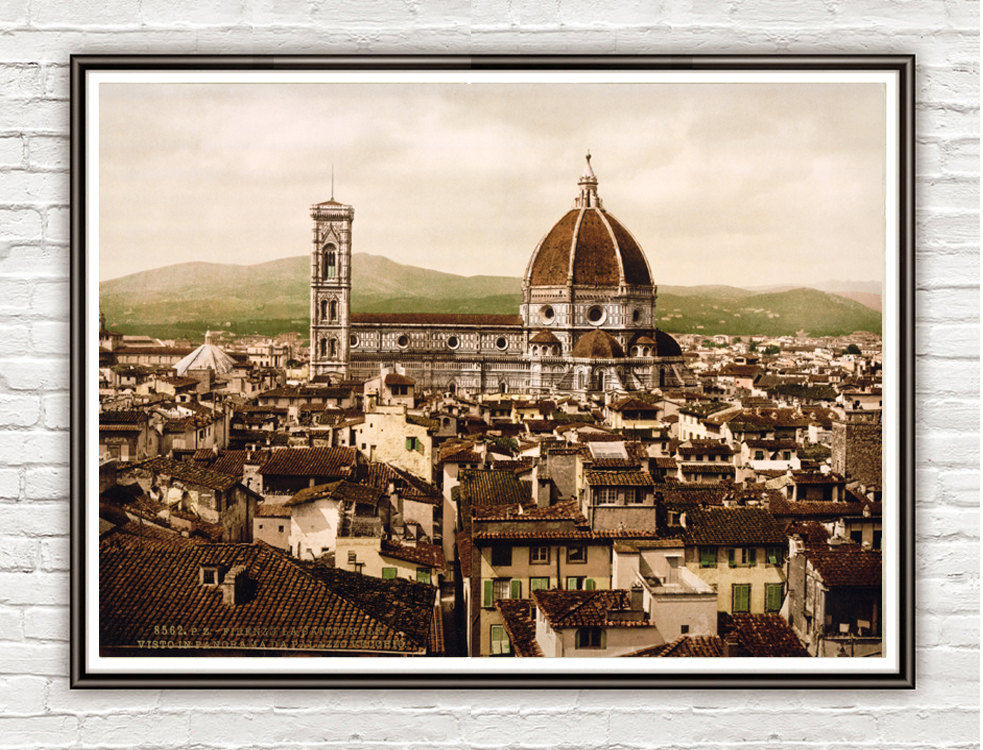 Vintage Photo of Florence The Duomo Italy Italia 1897 - product image