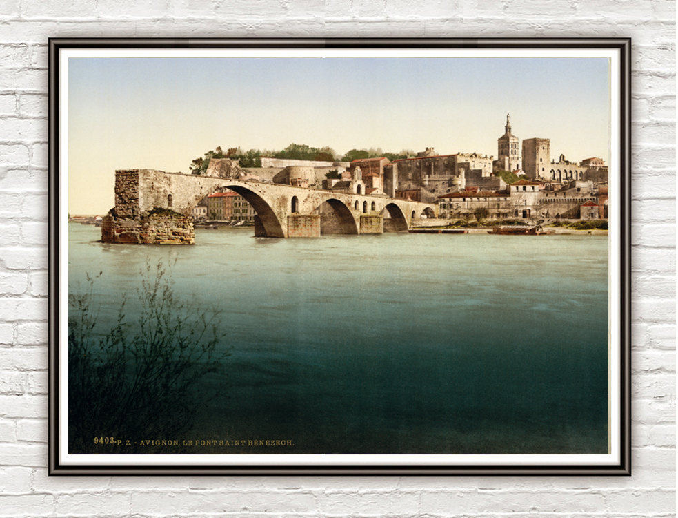 Vintage Photo of Avignon France 1898 - product image