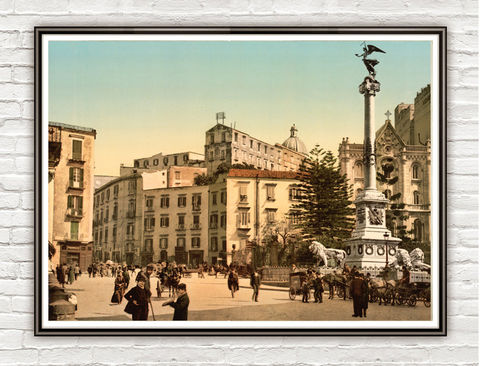 Vintage,Photo,of,Naples,Napoli,Italy,Italia,Piazza,Martiri,1895,Art,Reproduction,Open_Edition,Rome_Vintage,italy,rome_retro,rome_poster,italy_vintage,naples_decor,napoli,naples,old_naples,piazza,vintage_naples,old_photo