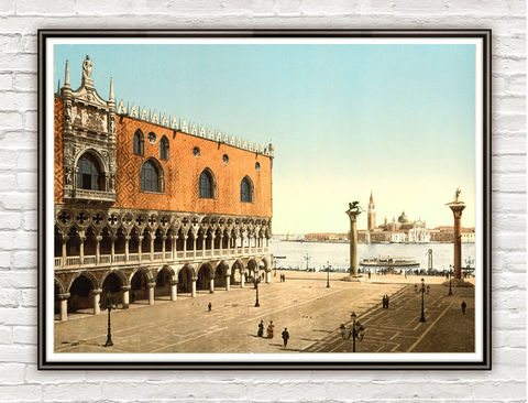 Vintage,Photo,of,Venice,San,Marcos,Square,Italy,Italia,1895,Art,Reproduction,Open_Edition,vintage_poster,Italia_tourism,italy,rome_poster,italy_vintage,travel_poster,venice_decor,venice_vintage,old_venice,venice_retro,san_marcos_square,venice,venetia