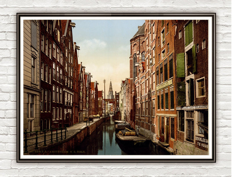 Vintage Photo of Amsterdam, North Holland, the Netherlands 1901 - product images