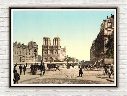 Vintage,Photo,of,Paris,,Notre,Dame,,France,1895,Art,Reproduction,Open_Edition,vintage_poster,Italia_tourism,old_rome,travel_poster,Paris_vintage,paris,notre_dame,paris_decor,paris_art,french_art,old_photo,paris_photo