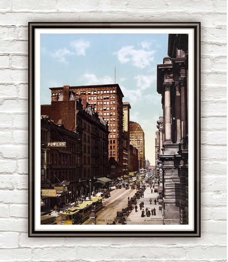Vintage Photo of Chicago, Lasalle Street 1900 - product image