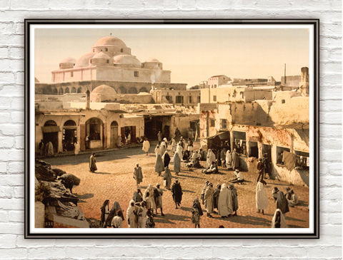 Vintage,Photo,of,Tunisia,Suika-Suker,Square,1899,Art,Reproduction,Open_Edition,vintage_poster,travel_poster,Bab_Suika__Suker,tunisia,tunisia_vintage,tunisia_square,tunis,old_tunisia,vintage,old_photo,arabia,tunisia_tourism,tunisia_decor