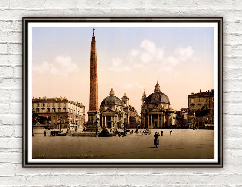 Vintage Photo of Rome Italy Italia  Piazza del Popolo 1895 - product images