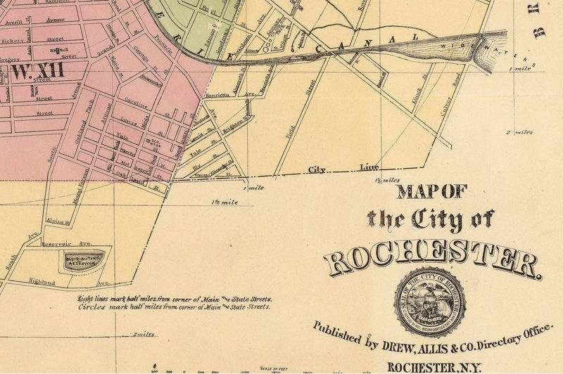 Old Map of Rochester 1882 - product image