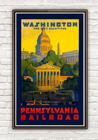 Vintage,Poster,of,Washington,Pennsylvania,railroad,1930,Tourism,poster,travel,Art,Reproduction,Open_Edition,vintage_poster,travel_poster,washington_poster,washington_retro,washington_decor,washington,whashington_DC,washington_city