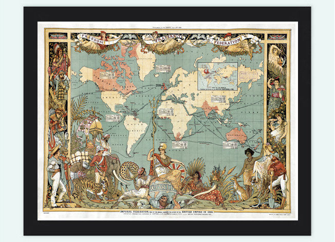 Old World Map Atlas Vintage World Map 1886 - product image