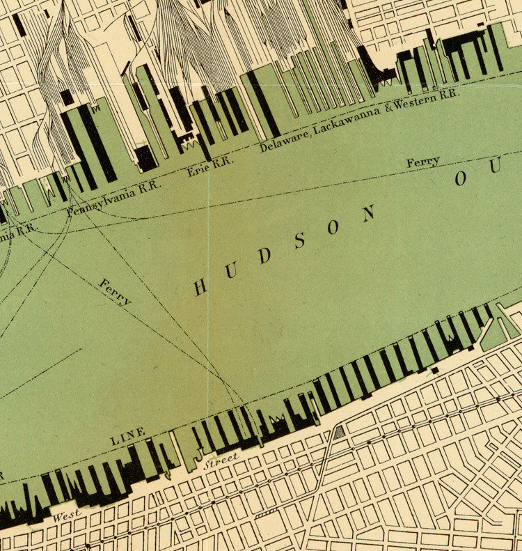 "Old Map of New York, 24""x18"" United States 1890 Manhattan - product images  of"