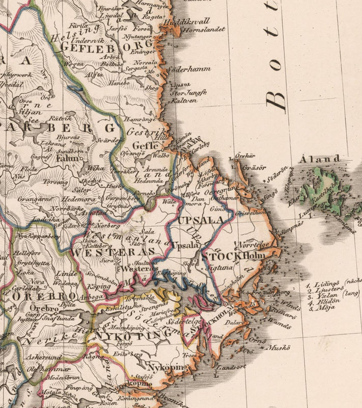 Old Vintage Map of Norway Sweden and Denmark Scandinavia 1824 - product image