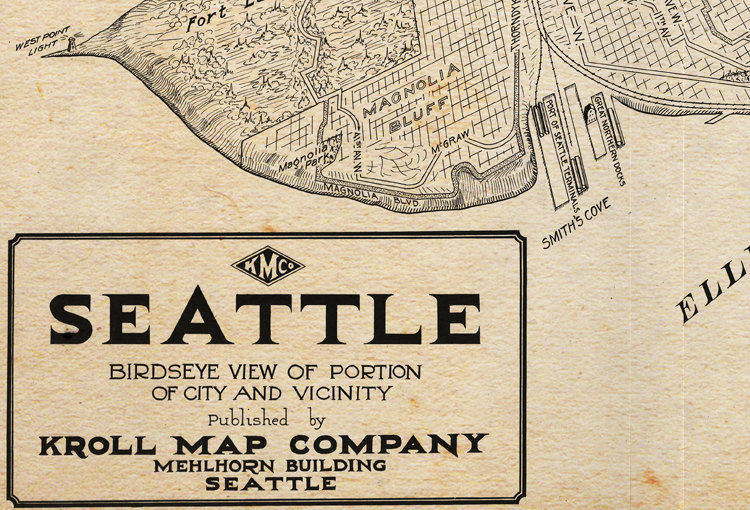 Old Map of Seattle Washington 1925 - product images  of