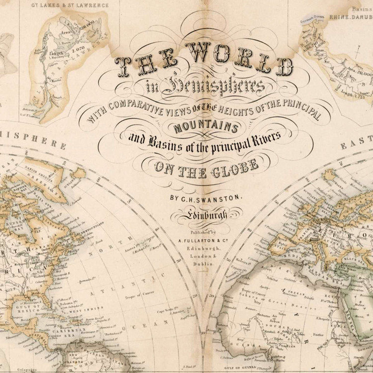 Old World Map 1862 Mercator projection - product images  of