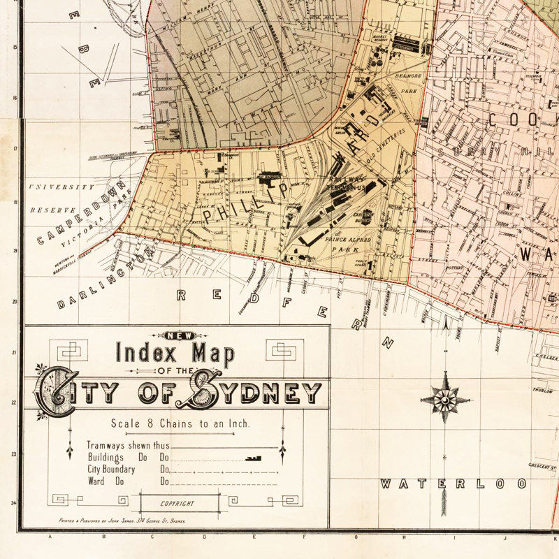 Old Map of Sydney Australia 1889  - product images  of