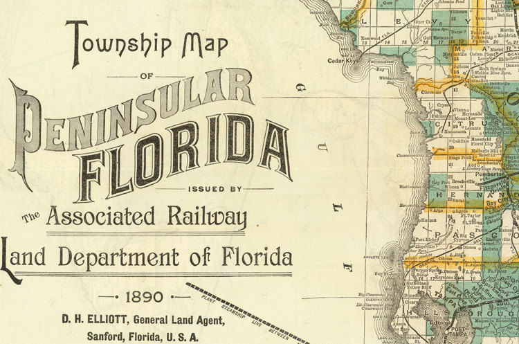 Old Map of Florida 1890 Florida map print - product images  of