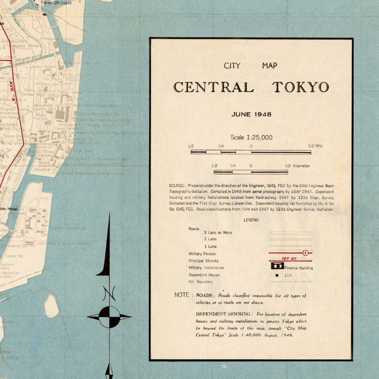 Vintage Map of Tokyo Japan 1848 - product images  of