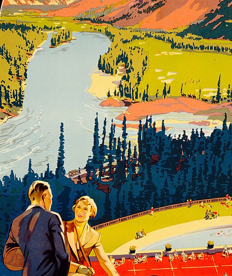 Vintage Poster of  Canadian Pacific 1936 Tourism poster travel - product images  of