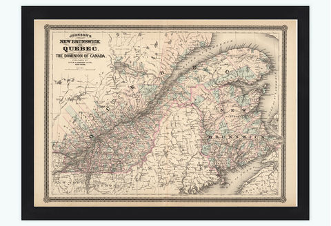Old,Map,of,Quebec,New,Brunswick,Canada,1886,Vintage,Art,Reproduction,Open_Edition,old_map,vintage_map,Canada_map,vintage_poster,new_brunswick_map,maine_map,vintage_map_maine,nova_scotia,quebec_map,quebec_canada
