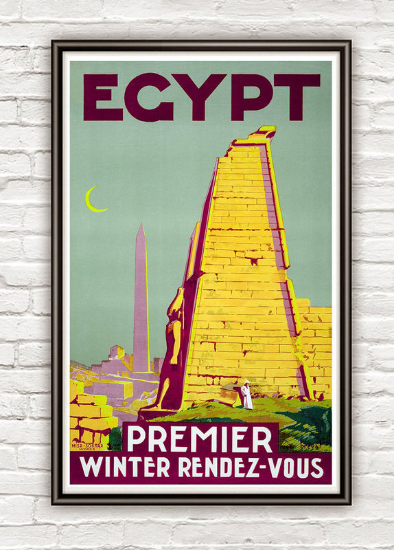 Vintage Poster of Egypt  1930 Tourism poster travel - product images