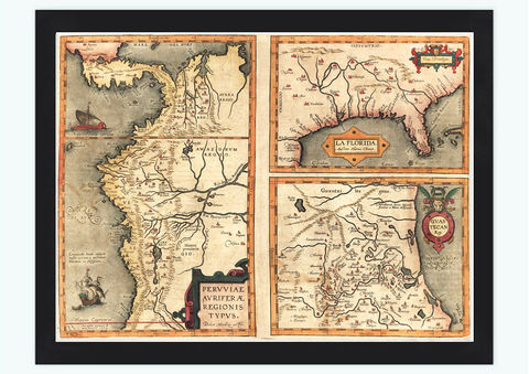 Old,map,of,America,Florida,Discoveries,1584,Art,Reproduction,Open_Edition,old_map,atlas,united_States,Peru,vintage_map,discoveries_ages,antique_map,oldcityprints,north_america_map,florida_map,ortelius