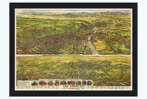 Panoramic,View,of,Los,Angeles,California,1840,Art,Reproduction,Open_Edition,United_States,panoramic_view,gravure,urban,vintage_map,california,los_angeles,old_map,vintage_poster,los_angeles_map,oldcityprints,los_angeles_poster,LA_california
