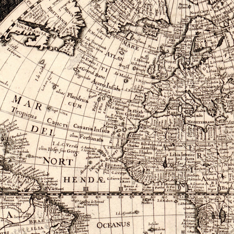 Old World Map Antique Atlas 1630 - product image