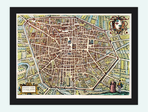 Old,Map,of,Bologne,Bologna,Italy,1582,Braun,and,Hogenberg,Art,Reproduction,Open_Edition,city,vintage,plan,medieval,gravure,Bononia,old_map,vintage_map,engraving