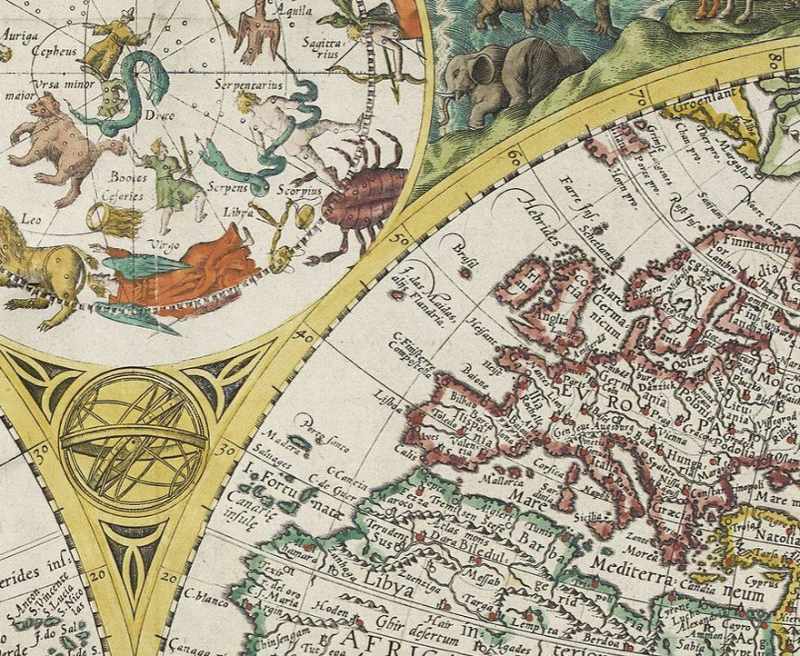 Old World Map 1596 Vintage Map of The World - product images  of