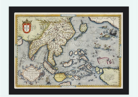 Old,Map,of,India,&,South,East,Asia,,1592,,Asia,Antique,map,Art,Reproduction,Open_Edition,plan,asia,asia_map,vintage_map,old_map_of_india,india_map,india_vintage_map,india_retro_map,South_east_Asia_map,India_vintage