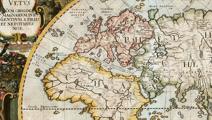 Antique Old World Map Antique 1652 - product images  of