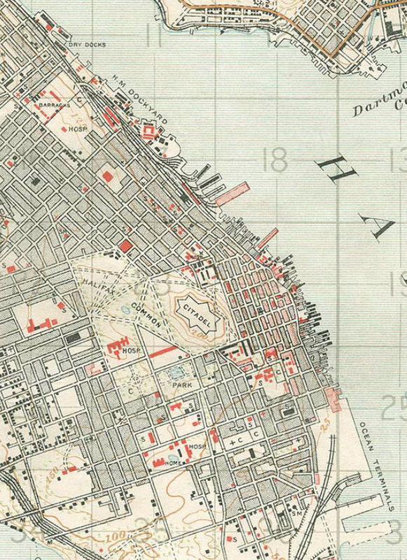 Old Map of Halifax, 30
