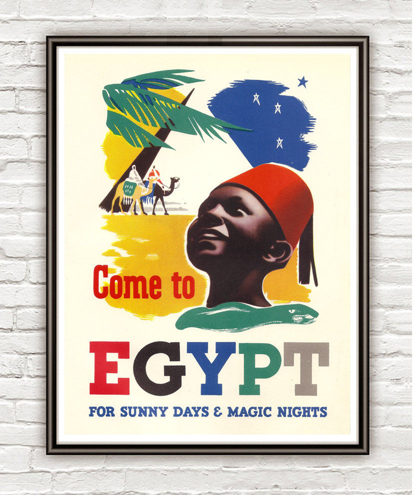 Vintage Poster of Egypt  1937 Tourism poster travel - product image