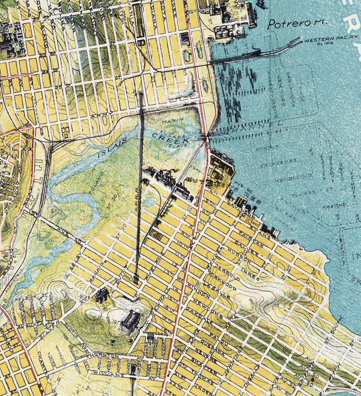 Old Map of San Francisco 1912 The Chevalier Map  - product image