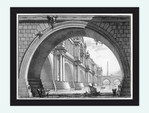 Giovanni,Battista,Piranesi,Bridge,With,Loggias,Engraving,Rome,Art,Reproduction,Open_Edition,Italia,gravure,architecture_drawing,engraving,Roma,Giovanni_Battista,antique,wal_decor_rome,rome_art,romans,medieval_rome