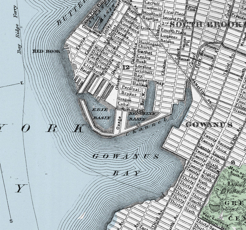 Old Map of New York Brooklyn Manhattan 1886 - product images  of