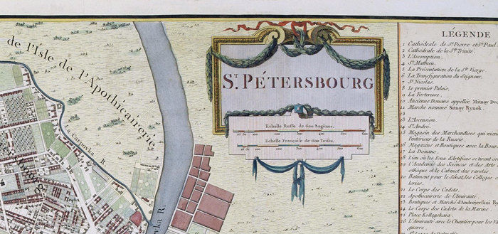 Old Map of  Saint Petersburg, S. Peterbourg Russia 1783 vintage Map - product images  of