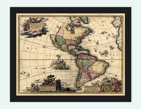 Old,map,of,South,America,1700,Art,Reproduction,Open_Edition,old_map,antique,atlas,united_States,south_america,brasil,Peru,vintage_map,engraving,cuba