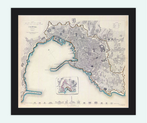 Old,Map,of,Genova,Italy,1836,Vintage,Art,Reproduction,Open_Edition,plan,city_map,retro,antique,Europe,italy,italia,genoa,genova,genes,city_plan,old__map,vintage_map