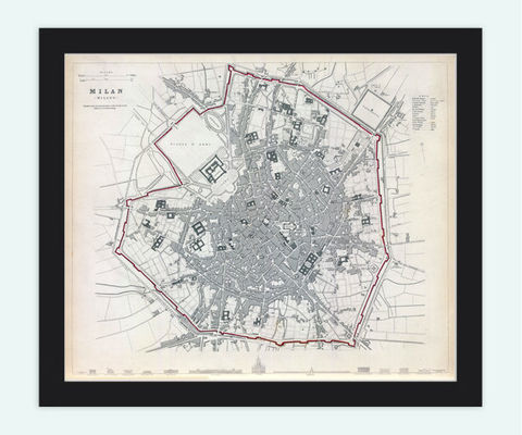 Old,Map,of,Milan,Milano,Italy,1832,Vintage,Art,Reproduction,Open_Edition,illustration,city_map,retro,antique,Europe,italy,italia,milan,milano,city_plan,vintage_poster,vintage_map,old_map