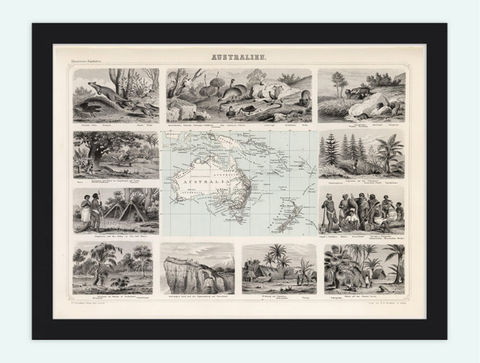 Old,Map,Australia,New,Zealand,Antique,Australien,1863,Art,Reproduction,Open_Edition,vintage,old_map,antique,atlas,illustration,New_Zealand,oceania,australia_map,new_zealand_map,map_of_australia