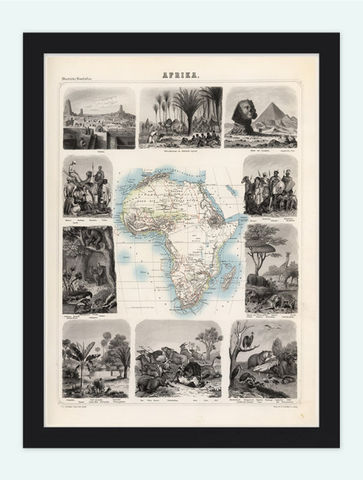 Old,Map,Africa,Antique,Afrika,1863,Art,Reproduction,Open_Edition,vintage,old_map,antique,atlas,illustration,africa_map,map_of_africa,africa_continent,atlas_africa