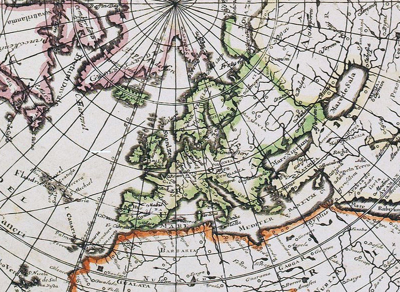 Old World Map Antique 1700