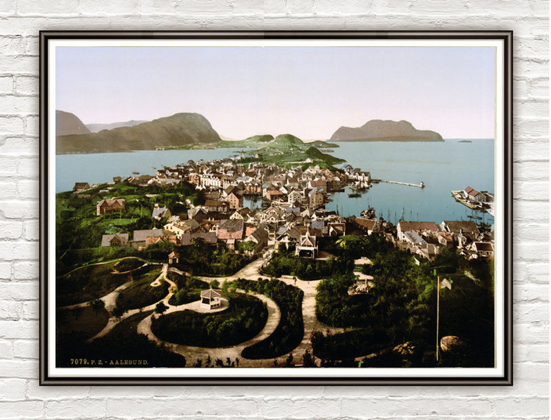 Vintage Photo of Alesund, Norway 1897 - product images