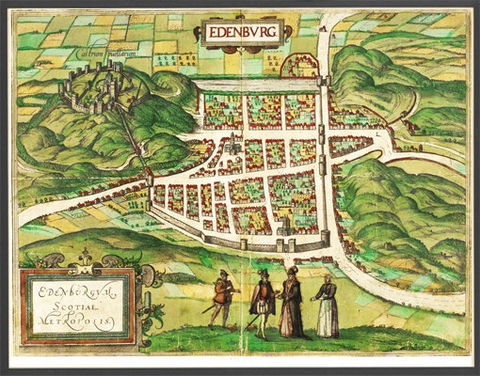 Old,Map,of,Edinburgh,Scotland,1581,Vintage,Art,Reproduction,Open_Edition,vintage,Braun,Great_Britain,United_Kingdom,medieval,old_map,city_plan,engraving,vintage_map,lithography,gravure