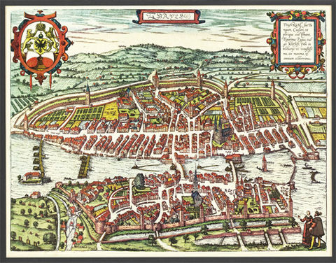 Old,Map,of,Zurich,Switzerland,1581,Vintage,Art,Reproduction,Illustration,plan,Braun,Hogenberg,medieval,engraving,old_map,city_plan,gravure,panoramic_view,map_of_zurich,zurich_map,switzerland