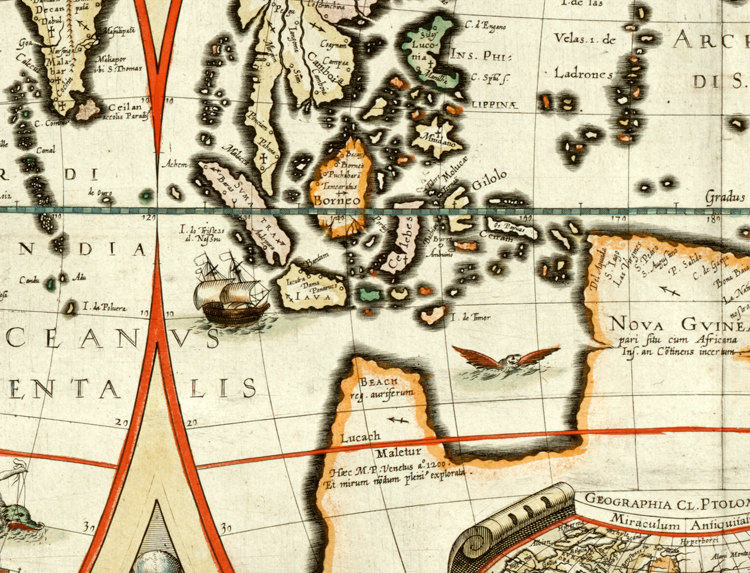 Antique World Map 1618 - product image