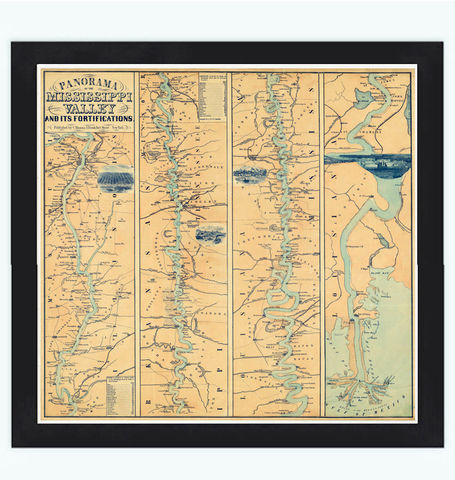 Mississippi,Valley,and,its,fortifications,1863,mississippi river, mississippi map
